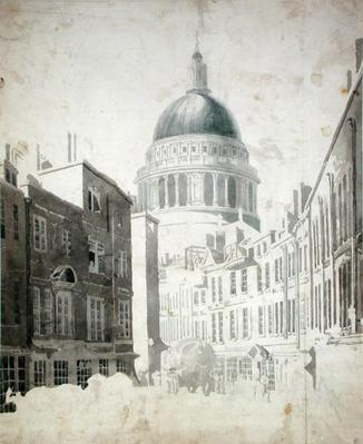 St. Paul's Cathedral, from St. Martin's-le-Grand, London, c.1795
