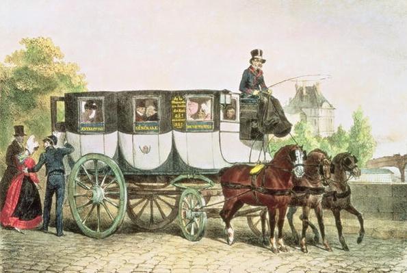 'Entreprise Generale des Omnibus', coach from Monnaie to Jardin du Roi, c.1815