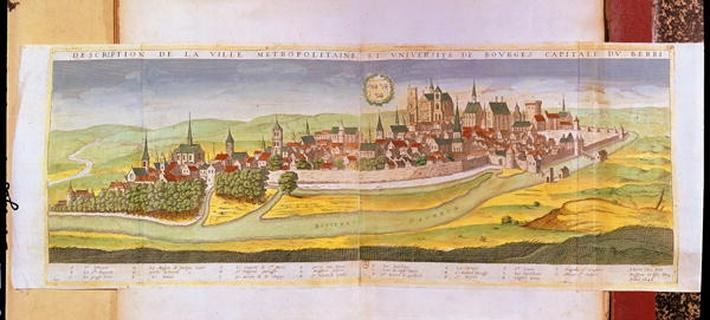 View of Bourges and the University, Capital of Berry, 1646