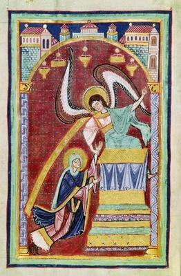 Ms 501 f.30v The Vision of St. Aldegondius, from 'The Life and Miracles of St. Amand'