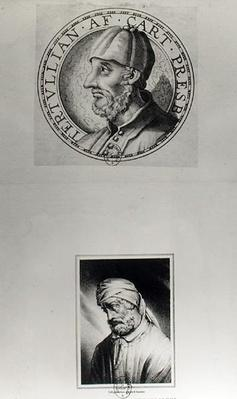 Two portraits of Quintus Septimus Florens Tertullianus