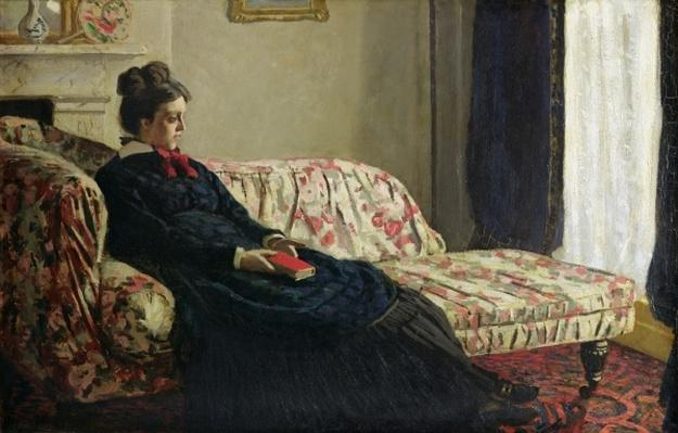 Meditation, or Madame Monet on the Sofa, c.1871