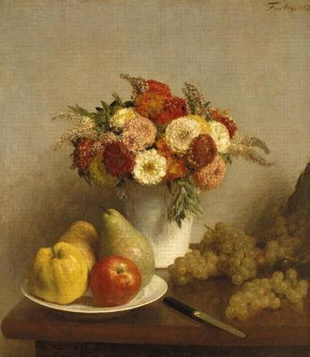 Flowers and Fruit, 1865