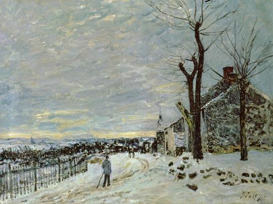 Snow at Veneux-Nadon, c.1880