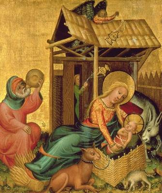 The Nativity, from the Buxtehude Altar, 1400-10