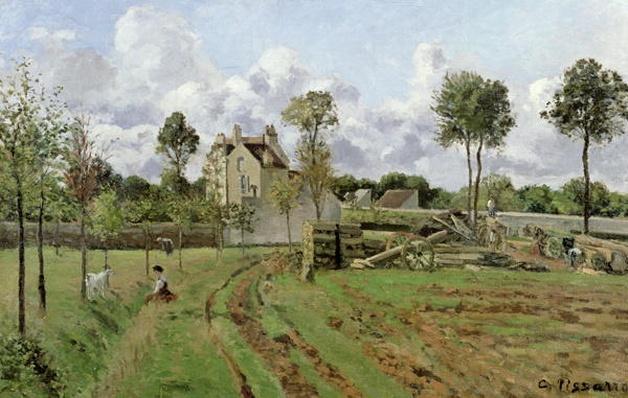 Landscape, Louveciennes, c.1872