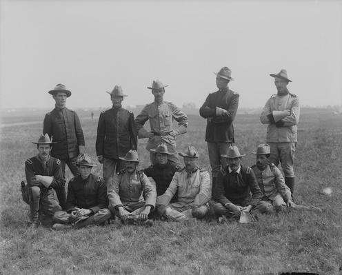Teddy Roosevelt with a Group of His Rough Riders, 1898 | Ken Burns: The Roosevelts