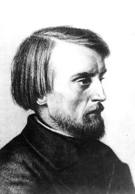 Portrait of Vissarion Grigorievich Belinsky