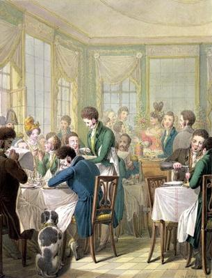 The Restaurant in the Palais Royal, 1831