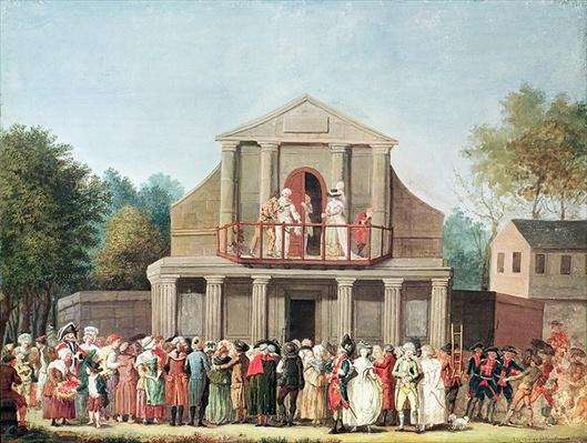 Theatrical Performance at the Saint-Laurent Fair, 1786