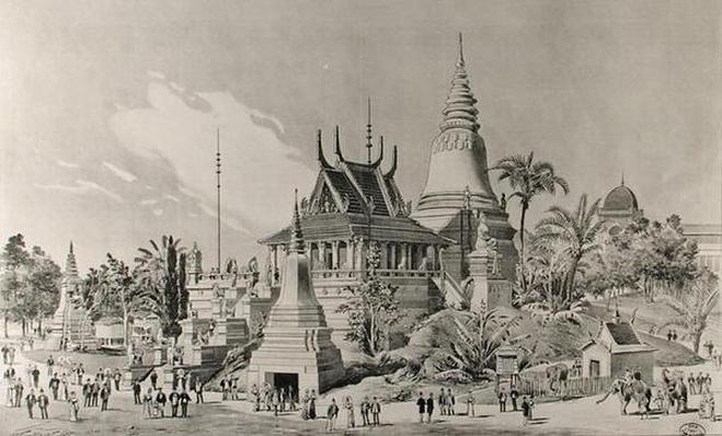 The Cambodian Palace at the Trocadero, the Universal Exhibition of 1900