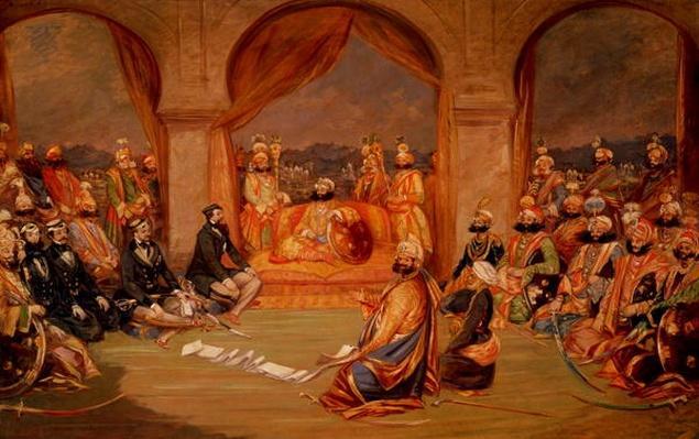 Durbar at Udaipur, Rajasthan, 1855