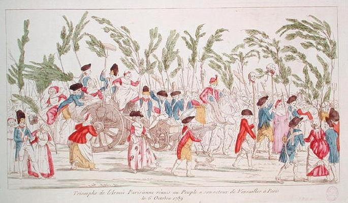 The Triumphant Parisian Army Returning to Paris from Versailles, 6th October 1789