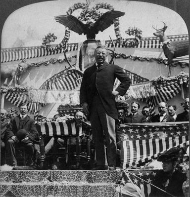 President Theodore Roosevelt in Newcastle, Wyoming, 1903 | Ken Burns: The Roosevelts