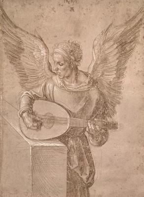Angel playing a lute, 1491