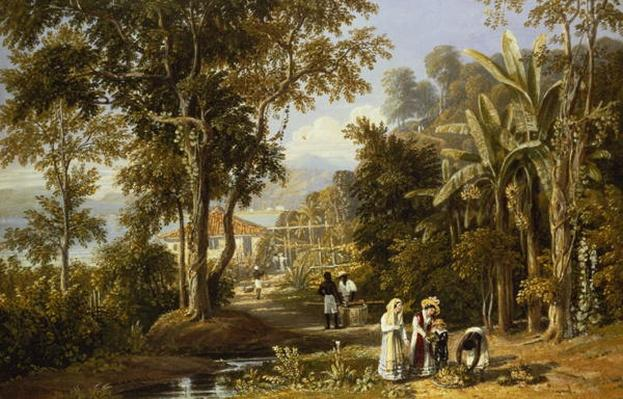 Garden Scene on the Broganza Shore, Rio de Janeiro