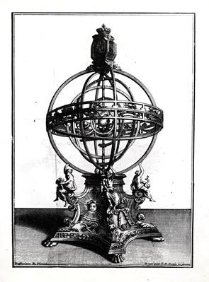 An Armillary Sphere of the Copernican System, engraved by Gerard Jean Baptiste Scotin