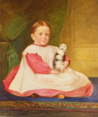 Child with guinea pig, c.1870