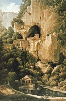 Chateau of Luegg or Predjama, near Trieste