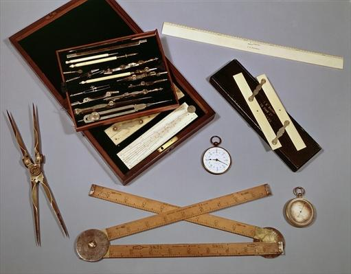 Drawing instruments used by Isambard Kingdom Brunel