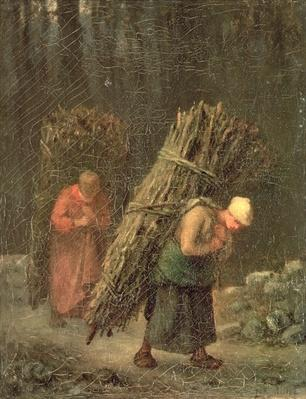 Peasant Women with Brushwood, c.1858
