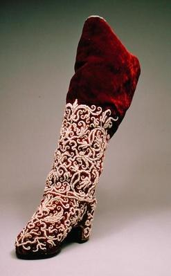 Lady's boot, 1650-1700