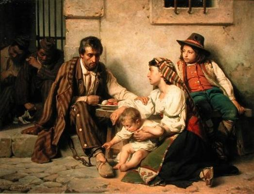 Prisoner Meeting His Family, 1868