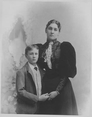Franklin with His Mother, Sara Delano Roosevelt, 1893 | Ken Burns: The Roosevelts
