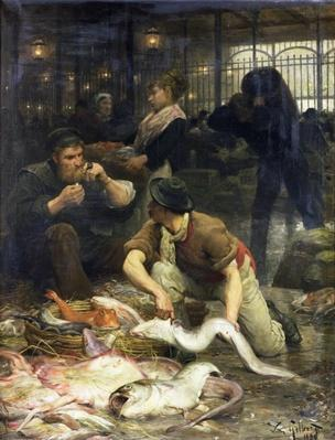 The Fish Market in the Morning, 1880