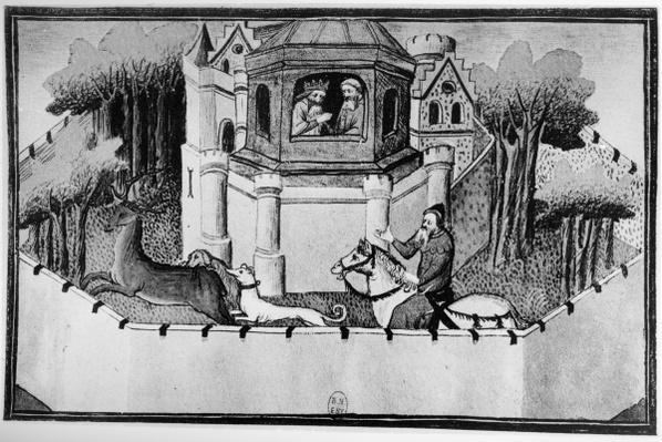 Ms Fr 2810 The Great Khan in Peking, from Livre des Merveilles du Monde, c.1410-12