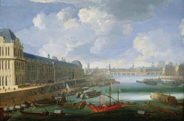The Seine Viewed Towards the Pont-Neuf, the Louvre and the College Mazarin, c. 1675