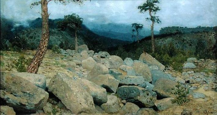 In the Crimean Mountains, 1886