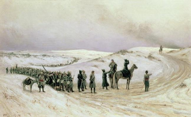 Bulgaria, a scene from the Russo-Turkish War of 1877-78, 1879
