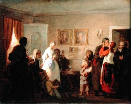 Congratulating the Newly-Weds in a Manor House, 1860