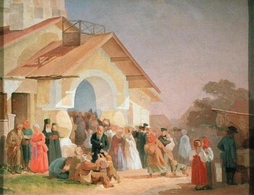 Coming out of a Church in Pskov, 1863-64
