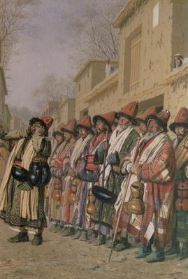 Dervishes' Chorus Begging Alms in Tashkent, 1870