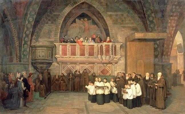 Vespers in the Saint Francis Church in Assisi, 1871
