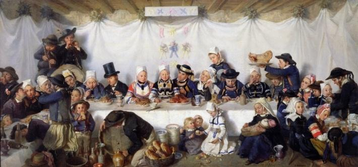 The Wedding Feast of Corentin Le Guerveur and Anne-Marie Kerinvel, 1880