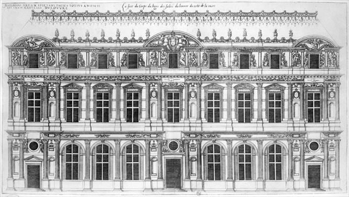 The Louvre, from 'Les Plus Excellents Batiments de France'