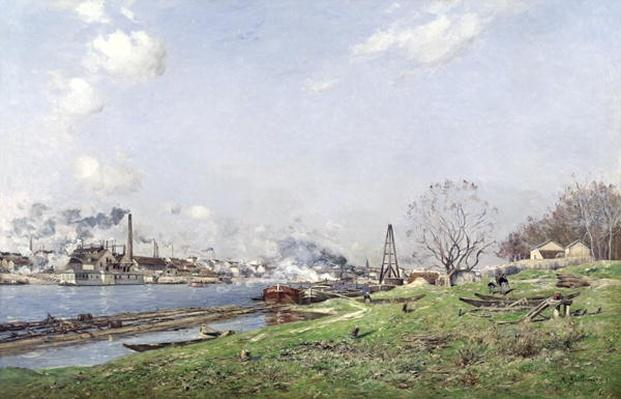 The Seine at Conflans-Charenton, 1892