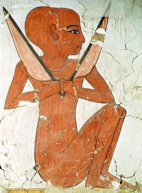 Naos deity, from the Tomb of Nefertari, New Kingdom