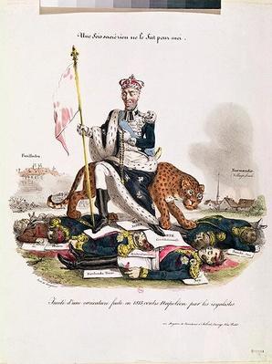 'Une fois sacre rien ne le fut pour moi', copy of an 1815 caricature directed at Napoleon I