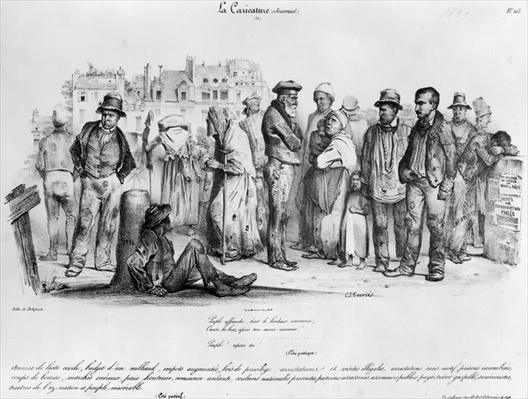 The Emancipated People, from 'La Caricature', engraved by Delaporte, 1831