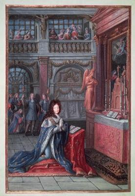 Frontispiece of the 'Hours of Louis XIV' depicting Louis XIV