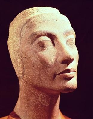 Unfinished head of Nefertiti, New Kingdom, c.1365-49 BC
