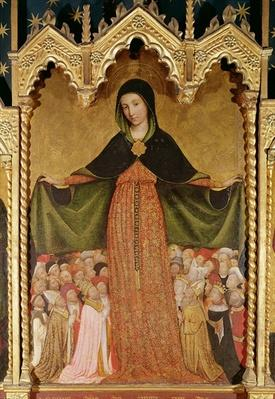 Virgin of Mercy, detail of the central panel, c.1429