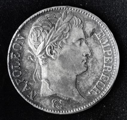 Coin depicting Napoleon I