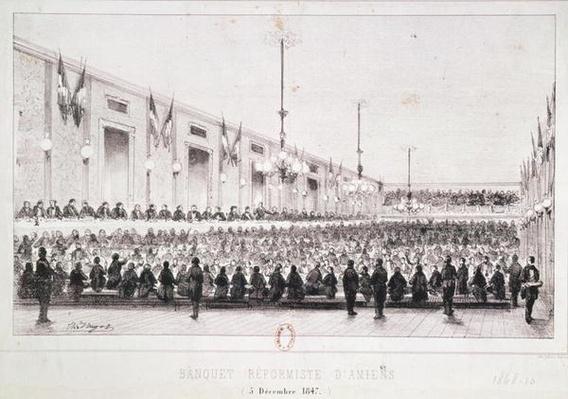 Reformist Banquet at Amiens, 5th December 1847