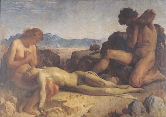 Adam and Eve finding the body of Abel