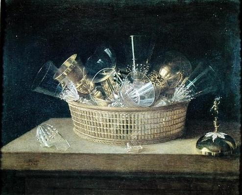 Still Life with a Basket of Glasses, 1644